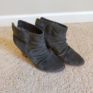Splendid Green Suede Ankle Boots